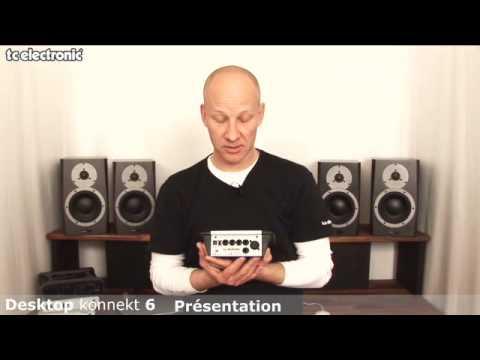 interface audio Desktop Konnekt 6 de TC Electronic : entrées/sorties