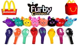 2016 McDONALD'S FURBY CONNECT HAPPY MEAL TOYS BALLOONS COLLECTION UK SCAN CODE FURBLING WORLD APP