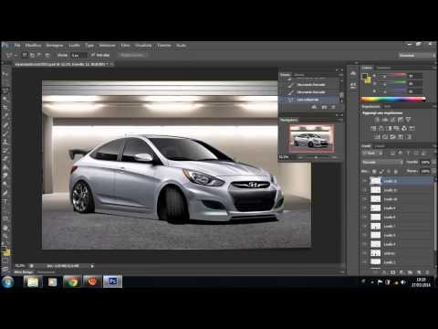 Hyundai Accent 2013 Virtual Tuning Photoshop