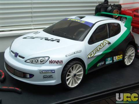 1/8th scale electric RC Rally car (