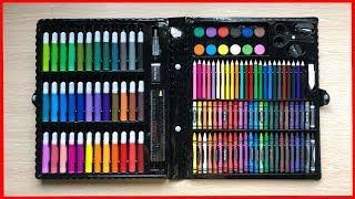 Pencil box, Đồ chơi trẻ em, Hộp màu vẽ 150 món Kitty: màu lông,màu nước,màu sáp-Toy kids (Chim Xinh)