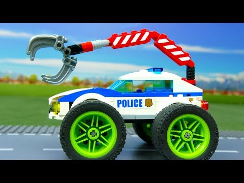 Lego Experimental Police Car and Giant Power Wheels | Cars For Kids | Toys for children