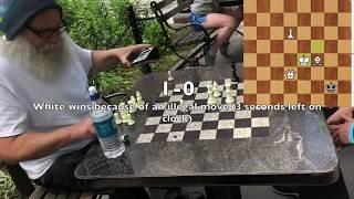 $4 Game against Chess Hustler - Washington Square Park NYC Chess Hustling