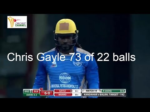 Chris Gayle 73 from 22 deliveries against Kandahar Knights aplt20 2018