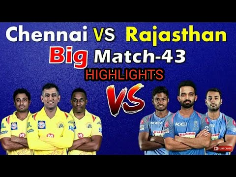 Vivo IPL 2018 RR vs CSK MATCH HIGHLIGHTS [watch video]