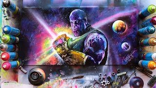 Thanos Avengers Infinity War Spray Paint Art