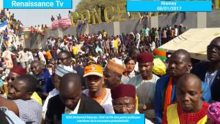 Marche de soutien au président de la République organisée par les partis politiques membres MRN