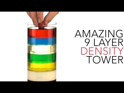 media 7 layer density cool science experiment