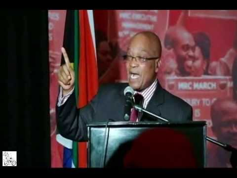 South Africa's President Jacob Zuma sings for Mandela