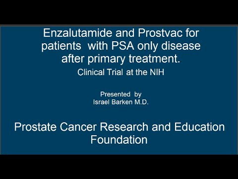 Enzalutamide and Prostvac for recurrent disease