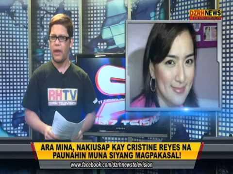 Ara Mina, nakiusap kay Cristine Reyes na paunahin na siyang magpakasal.