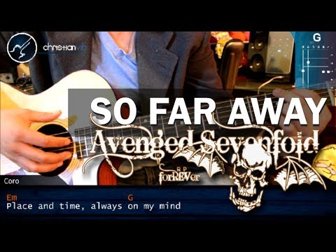 Como tocar So far Away Avenged Sevenfold Guitarra Acustica COMPLETO HD Tutorial