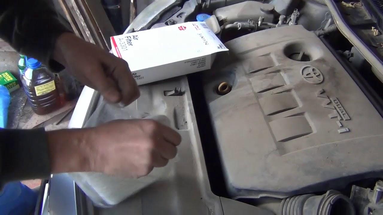 Замена салонного фильтра своими руками бортжурнал Toyota Corolla Black