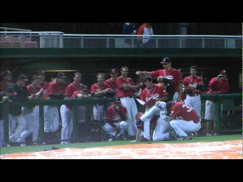 Clemson Baseball vs Davidson Rain Delay Bathroom break