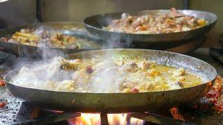 Lahore Street Food   Butt Karhai   Desi Murgh and Mutton Butter Karhai   Pakistani Street Food