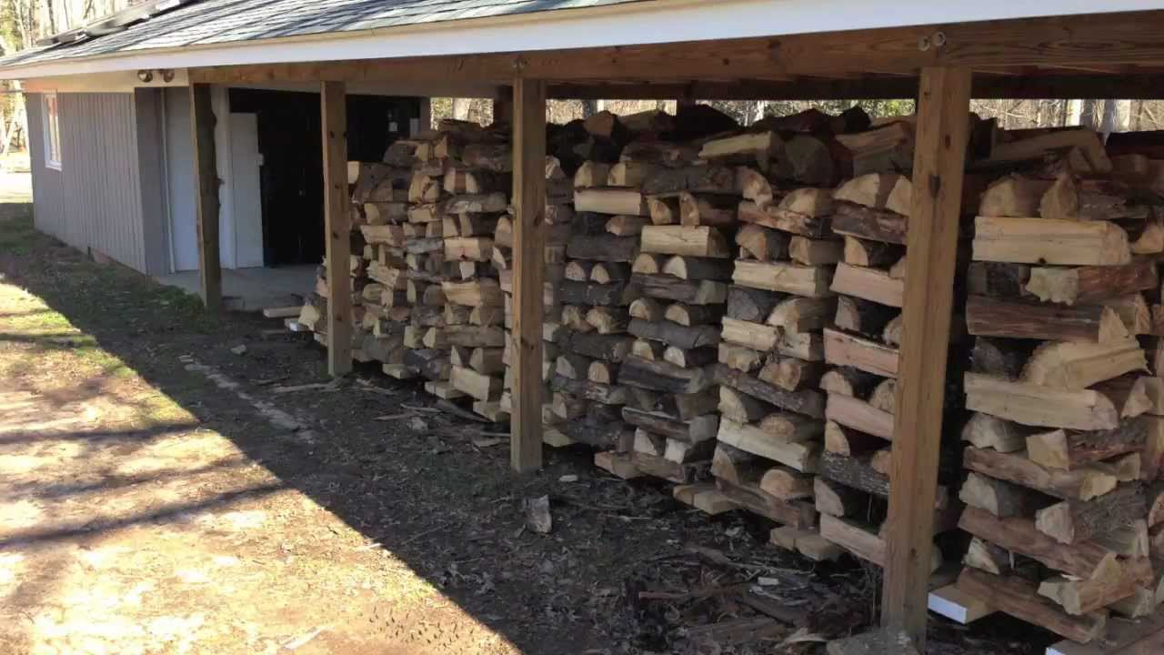 Mobile wood rack system for a wood burning boiler - YouTube