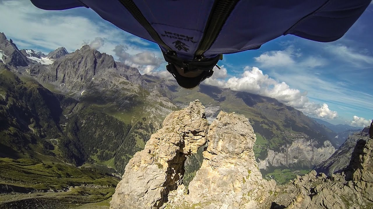 Man With A Death Wish Flies Through Five-Foot Cave In A Wingsuit