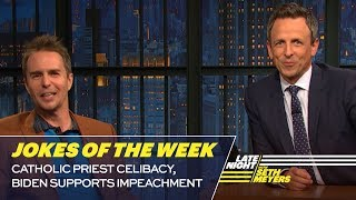Seth's Favorite Jokes of the Week: Catholic Priest Celibacy, Biden Supports Impeachment