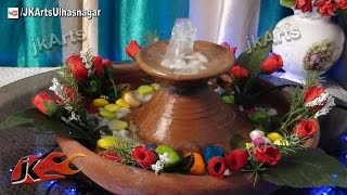 DIY How to make waterfall  | Easy TableTop Water Fountain | JK Arts 404