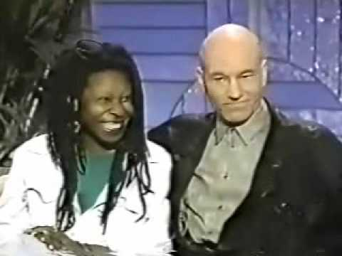 Patrick Stewart And Whoopie Goldberg On Arsenio Hall