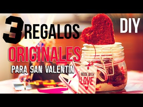 Diy 3 regalos originales y faciles para san valentin youtube - Ideas originales san valentin ...