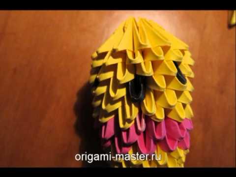 Модульное оригами Вини пух
