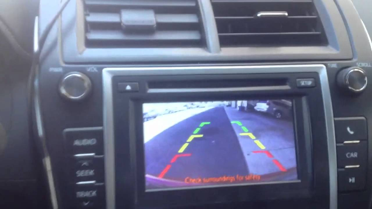 2012 Toyota Camry Backup Camera Installed To Factory
