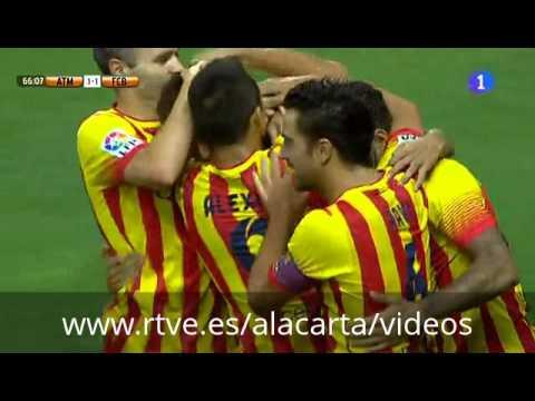 Primer gol oficial de Neymar con el FC Barcelona 1 1