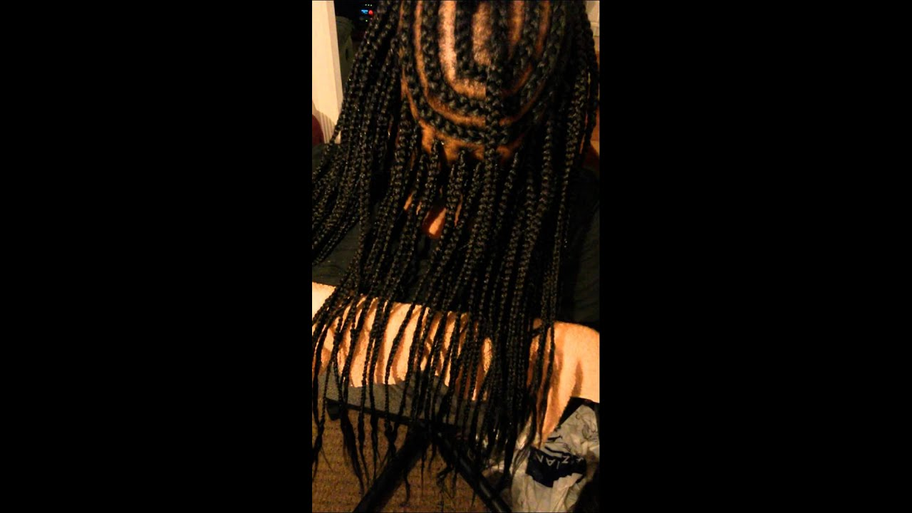 Braid Pattern For Crochet Box Braids : Crochet Box braid part 1 - YouTube