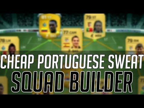 THE AFFORDABLE PORTUGUESE SWEAT SQUAD (CHEAP)   FIFA 14 Ultimate Team Squad Builder (FUT 14)