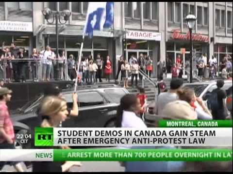 Canadians revolt against anti-protest law