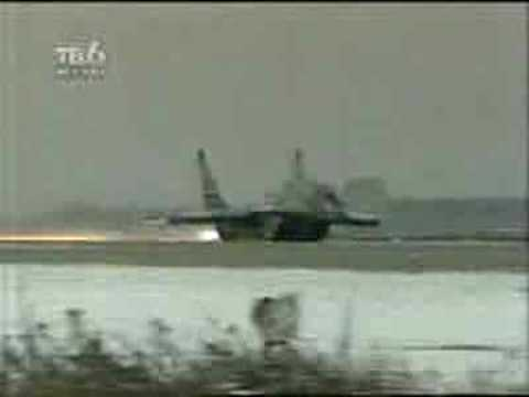 A Must see! Pilot pulls up landing gear while on runway!