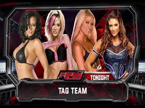 WWE 2K14: Ashley Massaro & Candice Michelle vs Kelly Kelly & Eve Torres