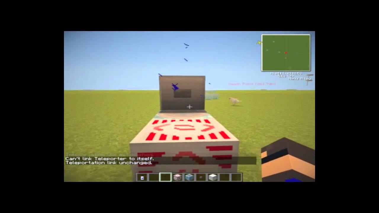 Как сделать лифт,телепорт с модом idastril craft в MineCraft - YouTube