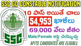 SSC GD Constable Jobs 2018 | Latest Central Government Jobs in CRPF,CISF,BSF,Army | 54,953 Jobs