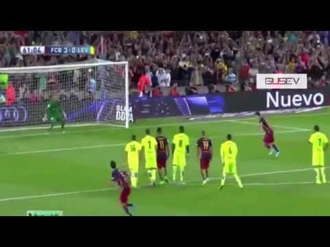 Fc Barcelona 4-1 Levante ; Liga BBVA 9/20/15