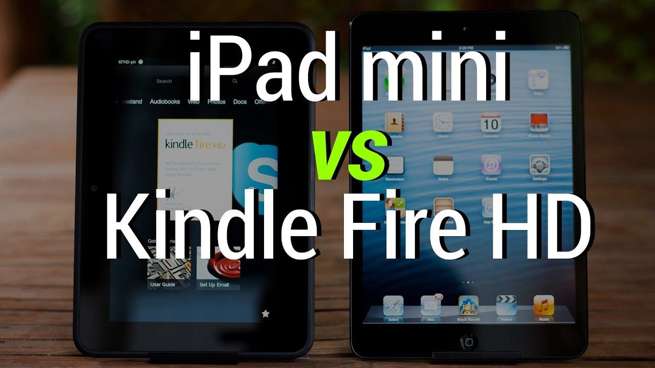 Ipad Mini Vs Kindle Fire Hd Youtube