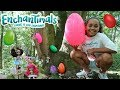 GIANT SURPRISE EGG HUNT IN A FOREST! Enchantimals Dolls Toy C...