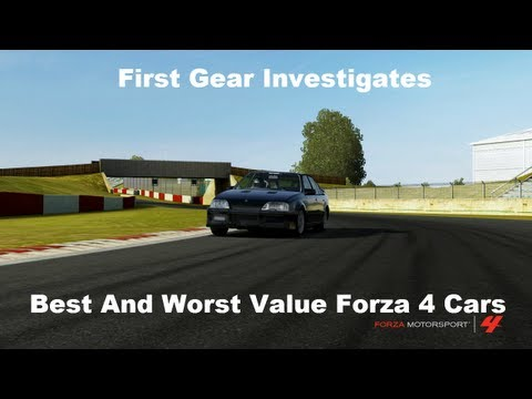 First Gear Investigates Best and Worst Value Forza 4 Cars