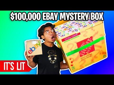 25 VS 100,000 EBAY MYSTERY BOX! Insane