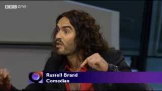 Russell Brand Lays Into Bankers On Question Time (and Boris Johnson