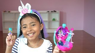 Unboxing mainan anak Shimmer and Shine - teenie genies surprise bottles