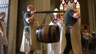 Belgian Brewers Bless Big Barrel of Beer in Brussels