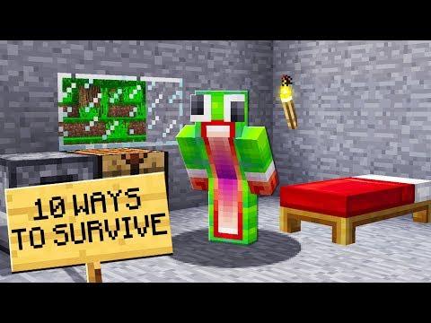 10 WAYS TO SURVIVE IN MINECRAFT!