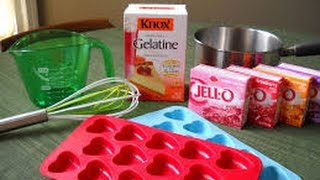 "How to make Jello fruit snacks ""Gummy Bears"" and ""Hearts"""