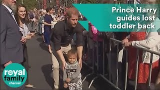 Prince Harry guides lost toddler back to his parents during Rotorua visit