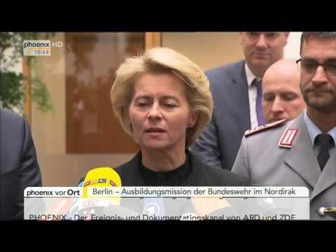 Nordirak: Frank-Walter Steinmeier & Ursula von der Leyen zur Gewalt von IS am 17.12.2014