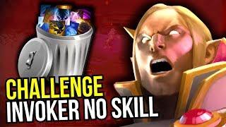 INVOKER NO SKILL CHALLENGE - Wtf 7.07 Dota 2 | Upside Down #12