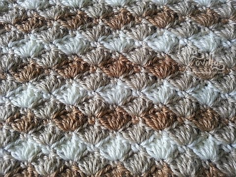Tutorial Punto Concha Crochet Shell Stitch