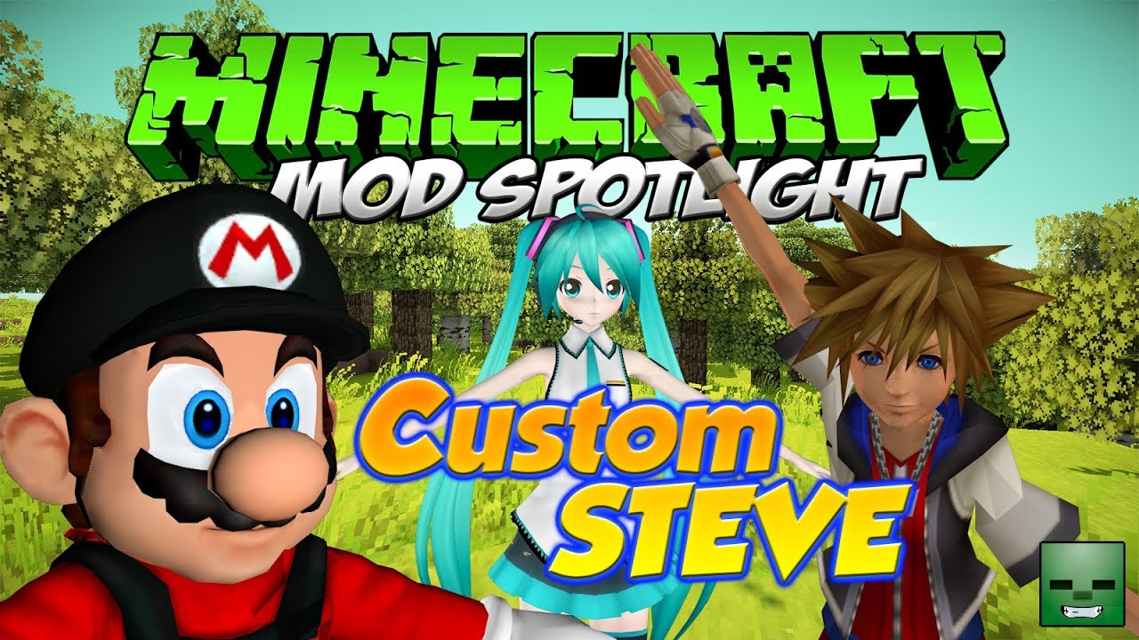 Minecraft Mods Custom Steve Forge172164 YouTube